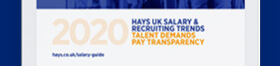 Request your copy of the Hays Salary & Recruiting Trends 2020 guide
